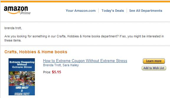 Amazon Promoted my Book To Me