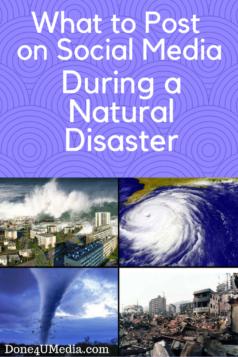 Social Media During Natural Disasters